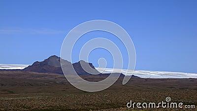 Mountains at glacier Langjökull