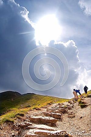 Mountains hiking trail