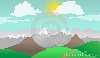 Mountains hills nature landscape