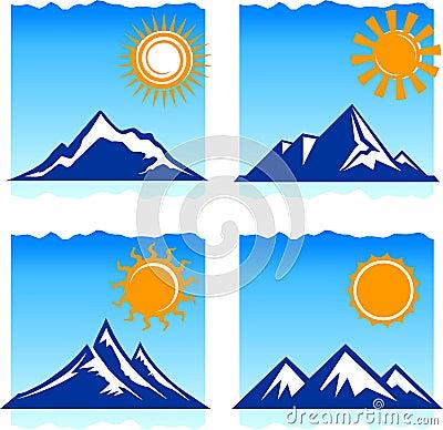 Free Mountains Icons Stock Photos - 12098233