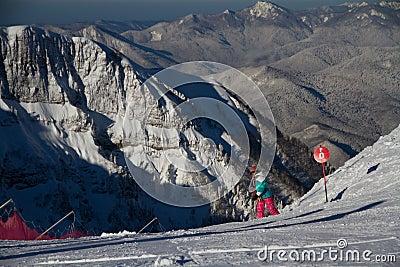 The mountains in Krasnaya Polyana, Sochi, Russia