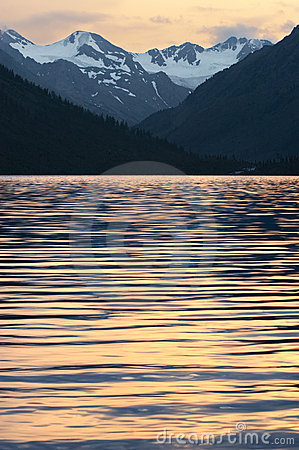 Free Mountains, Lake And Ripples. Royalty Free Stock Image - 1413906