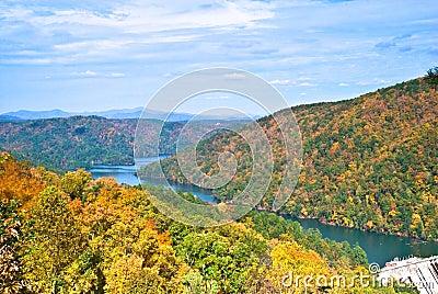 Mountains, Lake and Dam/Autumn