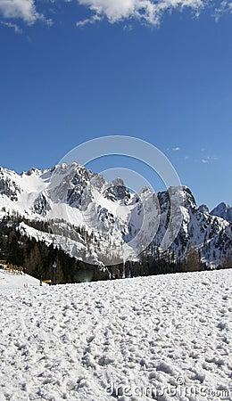 Mountains landscape in winter