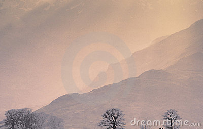 Mountains mist fog sun haze country countryside scenic