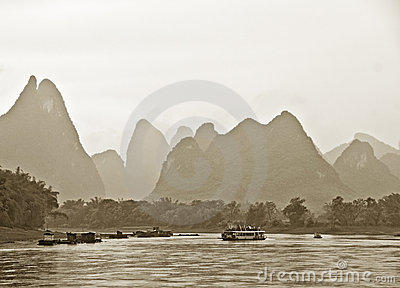 Mountains near Guilin, China