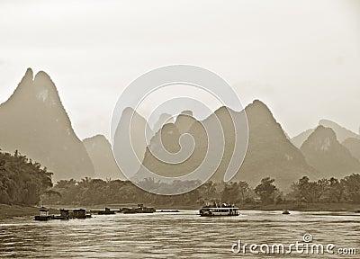 Mountains near Guilin, China