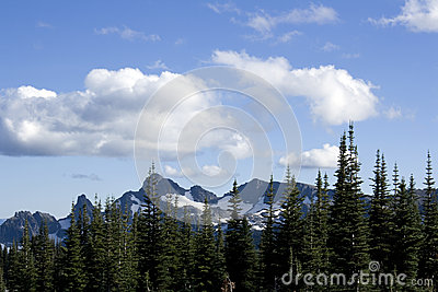 Mountains with nice cloudscape