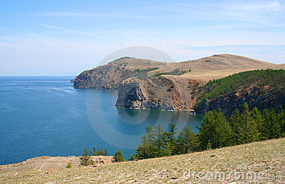 The mountains of Olkhon island on Baikal lake.