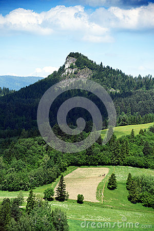 Free Mountains Pieniny In Slovakia And Poland Stock Images - 72910314