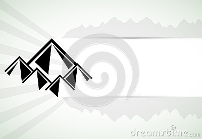 Mountains retro background