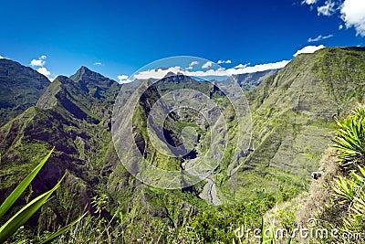 Mountains on Reunion Island