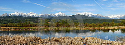 Mountains and river panorama