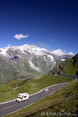 Mountains Road in the Alps, Austria