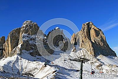 Mountains Sassolungo in Dolomiti, Italy
