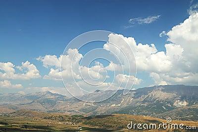 Mountains seen from Citadel of Gjirokaster