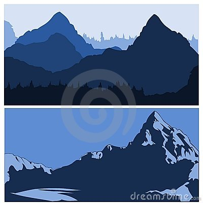 Free Mountains Siluettes Royalty Free Stock Images - 8978899