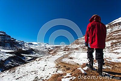 Mountains Snow Hiker Explore