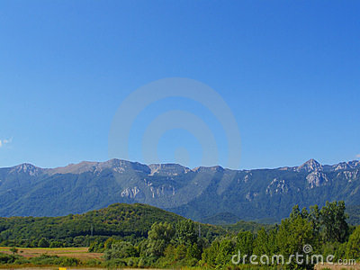 Mountains in summer landscape