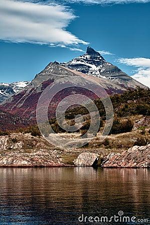 The Mountains that surround Glacier Perito Moreno