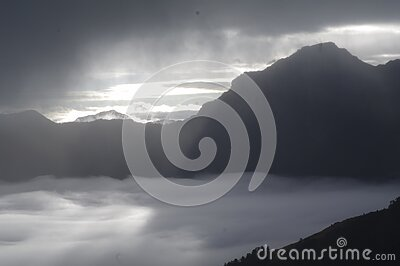 Mountains And Valley In Fog Free Public Domain Cc0 Image