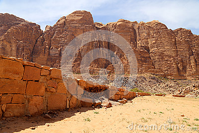 Mountains of Wadi Rum Desert also known as The Valley of the Moon