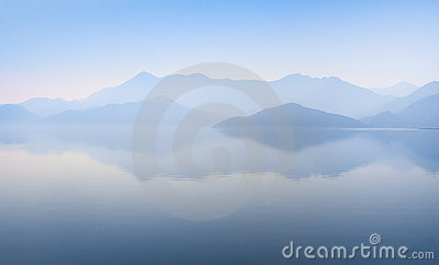 Mountains and waterscape