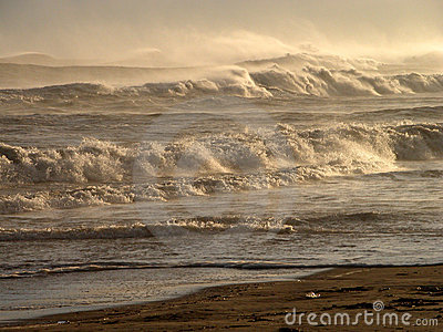 Mountains of waves....