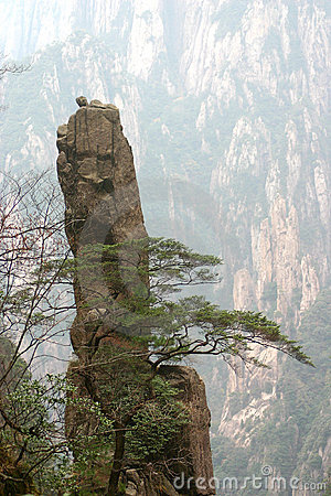 Mountainside rock formation
