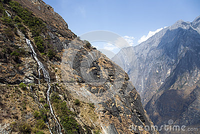 Mountainside Waterfall