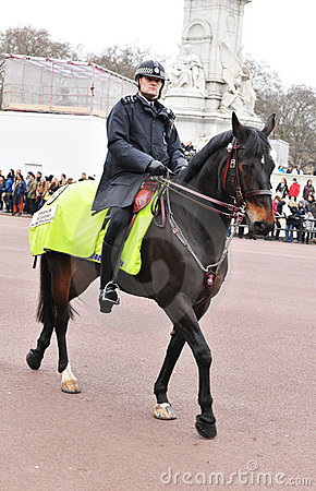 Mounted police Editorial Photography