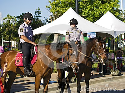 The mounted police