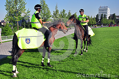 Mounted police in Ukraine Editorial Photo
