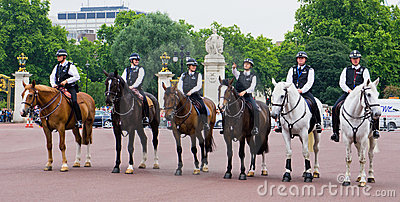 Mounted Policemen Editorial Stock Image