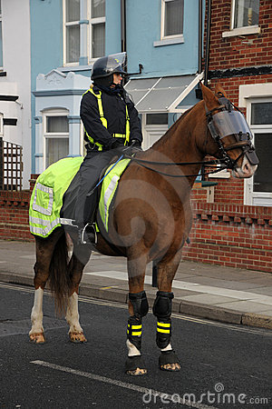 Mounted riot police Editorial Image