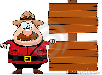 Mountie Sign
