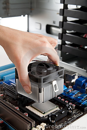 Free Mounting Cooling Fan On CPU Stock Image - 11939021