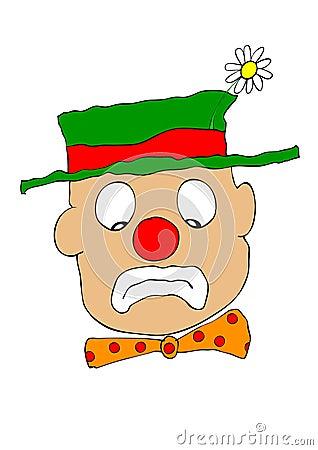 Mournful clown