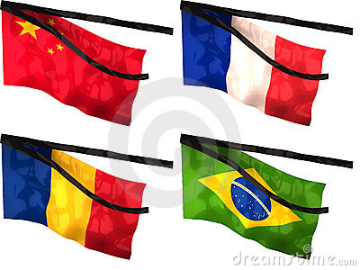 mourning flags