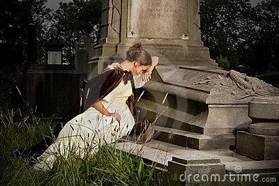 Mourning on a tomb