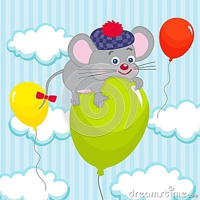 Mouse on balloon