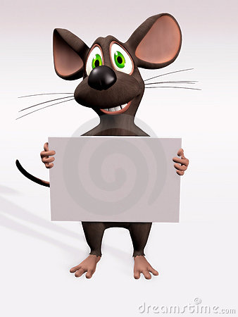 Mouse with blank sign