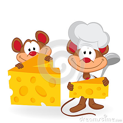 Mouse cook with cheese