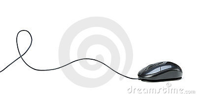 Mouse with a cord