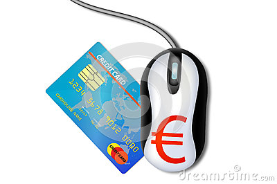 Mouse with a credit card