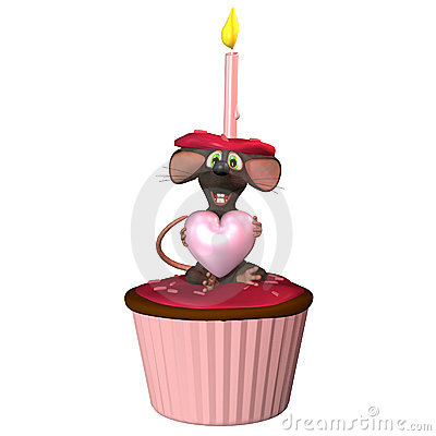 Mouse with Cupcake 2