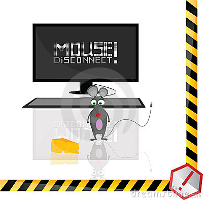 The mouse is disconnected