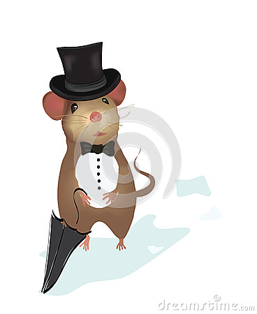 Mouse Gentleman.  Illustration of a mouse