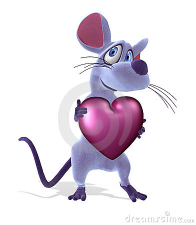 Mouse with Heart - Pastel