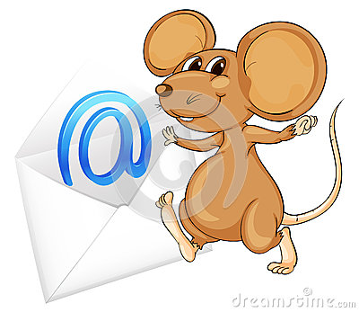 Mouse with mail envelop